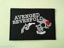 PUNK ROCK HEAVY METAL MUSIC SEW ON / IRON ON PATCH:- AVENGED SEVENFOLD (b) AX7