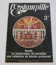 Revue d'art L'ESTAMPILLE Objet d'art n°1 mai 1969 Boulle Pendules photo ancienne