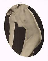 Original Vintage Art Deco Female Nude Everard Photo Gravure Print 30s9