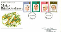 10 SEPTEMBER 1980 FAMOUS CONDUCTORS POST OFFICE FIRST DAY COVER GLASGOW FDI