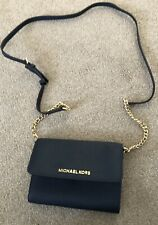 MICHAEL KORS Navy, Jet Set, Saffiano Leather, Cross-Body, Bag, Clutch