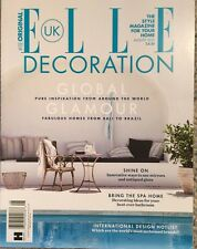 Elle Decoration Global Glamour Fabulous Homes August 2015 FREE SHIPPING!