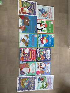 Childrens Christmas Story And Sticker Books (12) NEVER USED,Perfect Gift Package