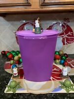 New! Tupperware Jumbo Servalier 2.5 Gallon Purple Canister !!!