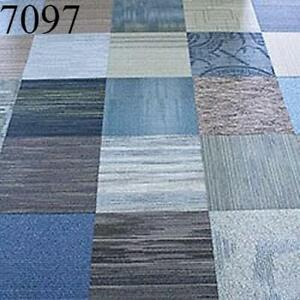Assorted Blue Family Shaw Carpet Squares 48 SqFt 12 Tiles New