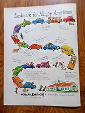 1950 Howard Johnson's Ad Landmark for Hungry Americans