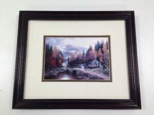 1998 Accent Prints Thomas Kinkade Valley Of Peace Art Scenic Cottage Woods #108