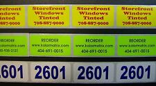 Custom Printed Stickers Labels 1 X 2 Rectangle 250 Business 1 Color Ink Roll
