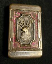 Antique 19th C. Victorian Repousse BPO Elks Fraternal Match Safe Vesta RARE!