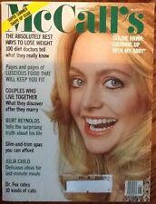 McCall's fashion magazine June 1978 Goldie Hawn Julia Child Burt Reynolds Disney