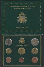 VATICANO 2005 SERIE DIVISIONALE MONETE EURO FDC
