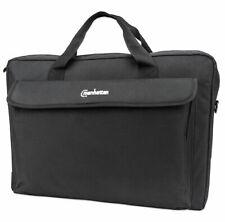 "Manhattan London Laptop Bag 17.3"", Top Loader, Black"