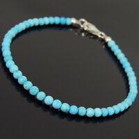 Natural Energy Handmade Bracelet Blue Turquoise Gemstones Throat Chakra Stones
