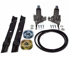 "Sears Craftsman LT3000 42"" Mower Deck Rebuild Kit Spindles Blades Belt Idlers"