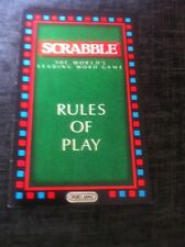 Scrabble Game, Rules Of Play Booklet.Genuine Mattel Games Part.
