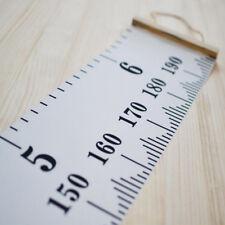 Kids Growth Height Chart Ruler Children Room Decor Wall Wooden Hanging Measure