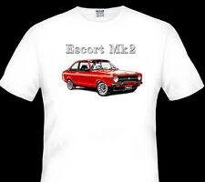 1977 - 1980  FORD  ESCORT  MK2  2000   WHITE TSHIRT   S M L XL XXL XXXL 4XL 5XL