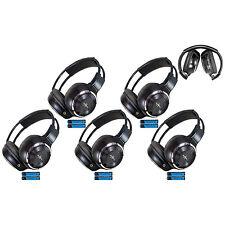 5 Fold In Wireless Infrared Dvd Rear Headphones Headset For Pickup Truck Van Toy
