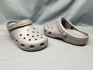 Crocs Men's Classic Clog Grey Slip-On 10001-0DA Size 11 NEW WITH TAGS!