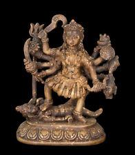 Statue Von Kali Oder Mahakali Gottheit Hindu IN Harz Brown -schein 2418