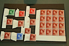 GB EVIII - CARD WITH VARIOUS MINT CYLINDER NUMBER CONTROLS - ALL M/MINT