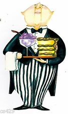 """6"""" Fat chef cake desert kitchen prepasted wall border cut out character"""