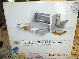 NEW Fiskars Fuse Creativity System Die Cut Letterpress - NEW SEALED BOX!