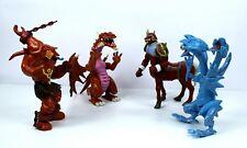"YuGiOh 6"" Figure Collectibles Kazuki Takahashi 1996 Lot 4 Figures VTG Monsters"
