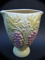 VINTAGE KALMAR AUSTRALIAN  POTTERY HUGE VASE GRAPES DESIGN  RETRO 1950's