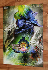 Monster Hunter Tri 3 Ultimate Ikki Tousen Promo Poster 56x40cm Nintendo 3DS Wii