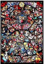 Disney Pixar Stained Glass Cross Stitch Chart
