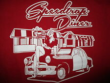 SPEED TRAP DINER T SHIRT Retro 1950s Pinup Girl Diner Waitress Cruisin Ohio SM