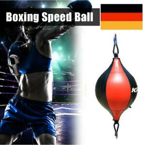 Speedball Leder Doppelendball Boxbirne Schlagbirne Boxen Punchingball PU Leather