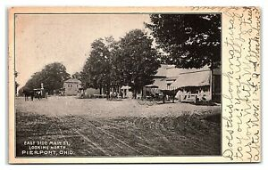 East Side Main Street looking North, Pierpont, OH Postcard *7E15