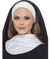 Ladies Sister Act Hen Night Nun Headpiece & Collar Fancy Dress Costume Accessory