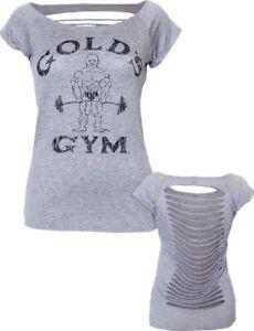 Golds Gym Sexy Slasher Yoga dance Top T-Shirt Black Size XL