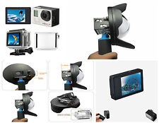 6'' Underwater 2.5 Dome Port Lens Hood + LCD Bacpac Display for Gopro Hero 3+ 4