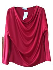 PER UNA RED SLOUCH NECK TOP SIZE 8 BNWT
