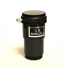 """Brand New 1.25"""" 3x Barlow Lentille pour télescopes, grande affaire de 50p!"""