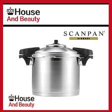 NEW Scanpan S/Steel Pressure Cooker W/Side Handles 24cm/8L Code 18302! RRP $419