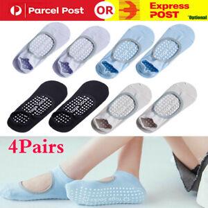 4Pairs Yoga Socks Non Slip Pilates Massage Ballet Socks with Grip Exercise Gym