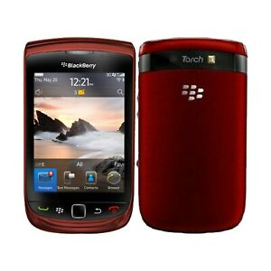 Unlocked BlackBerry 9800 Torch Slide Cellular QWERTY Keyboard Mobile Phone Red