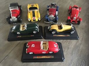 Bundle of 7 Burago Model Cars