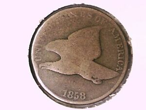 1858 Flying Eagle Cent Genuine Raw Ungraded 01082