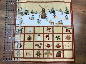 Advent Calendar panel 23.5 wide x 25 length when finished