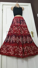 "40""Long Tie Dye Batik Half Lined High Quality Skirt  Rayon Boho Hippie frsz12-20"