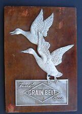 1940's Grain Belt Beer Sign, Metal on Wood.  Minneapolis Brewing Co.