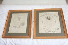 """Dos Raro, Antiguo impresiones de """"la familia real serie, por J.P. Hemm 1831"""