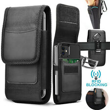 Vertical Cell Phone Holster Pouch with Belt Loop Wallet Case Cover for Samsung
