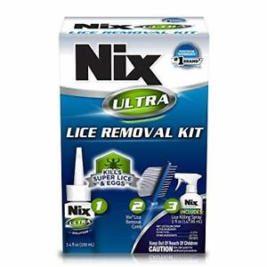(Damaged Box) 3 piece Nix Ultra Lice Removal Kit, Includes Lice Removal Comb ...